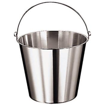 "WOR4196012 - World Cuisine - 41960-12 - 10 5/8"" Deep Stainless Kitchen Pail Product Image"