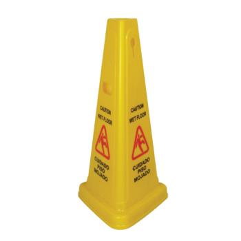 WINWCS27T - Winco - WCS-27T - Wet Floor Tri-Cone Caution Sign Product Image