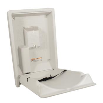 86311 - Koala - KB101-00 - Vertical Mount Baby Changing Station Cream Product Image