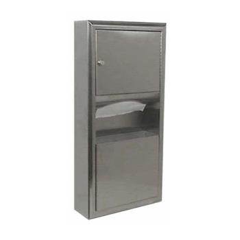 BOBB3699 - Bobrick - B-3699 - ClassicSeries™ Surface-Mount Paper Towel Dispenser & Waste Receptacle Product Image