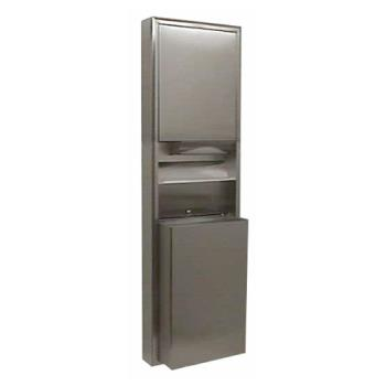 BOBB3949 - Bobrick - B-3949 - ClassicSeries™ Surface-Mount Paper Towel Dispenser & Waste Receptacle Product Image
