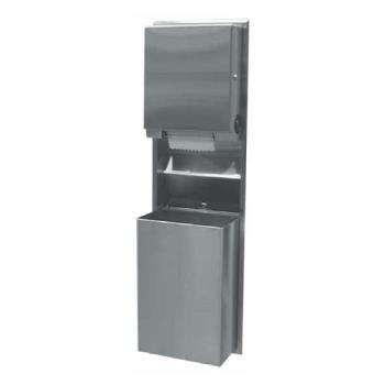 BOBB39617 - Bobrick - B-39617 - ClassicSeries™ Recessed Universal Paper Towel Dispenser & 18 gal Waste Receptacle Product Image