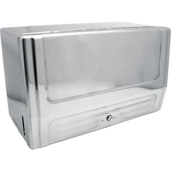 "75409 - Continental Mfg. - 630C - 13"" Chrome Single Fold Paper Towel Cabinet Product Image"