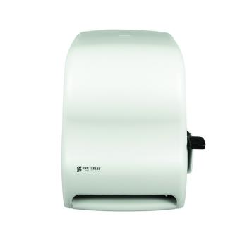 SANT1100WH - San Jamar - T1100WH - Classic White Lever Roll Towel Dispenser Product Image