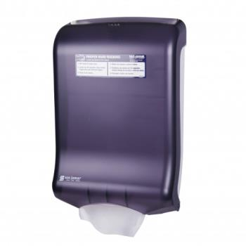 SANT1700TBK - San Jamar - T1700TBK - Ultrafold Classic Black Folded Towel Dispenser Product Image
