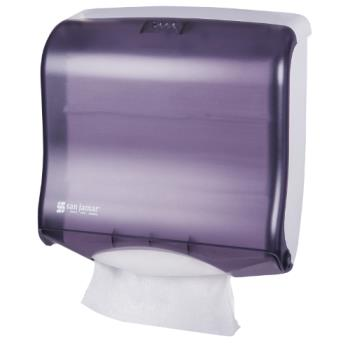 SANT1755TBK - San Jamar - T1755TBK - Ultrafold Fusion Black Folded Towel Dispenser Product Image