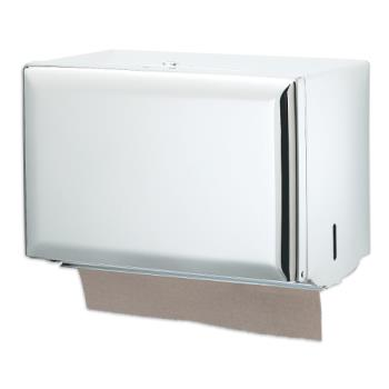 SANT1800WH - San Jamar - T1800WH - Single Fold White Towel Dispenser Product Image