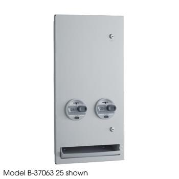 BOBB3706350 - Bobrick - B-37063 50 - TrimLineSeries™ Recessed 50 Cent Napkin/Tampon Dispenser Product Image