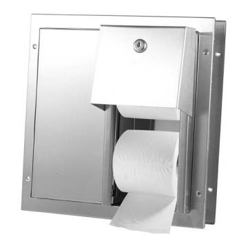 38245 - American Specialties - 0032 - Partition Mount Double Roll Toilet Tissue Dispenser Product Image