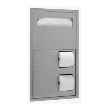 BOBB3474 - Bobrick - B-3474 - ClassicSeries™ Recessed Seat Cover & Toilet Tissue Dispenser Product Image