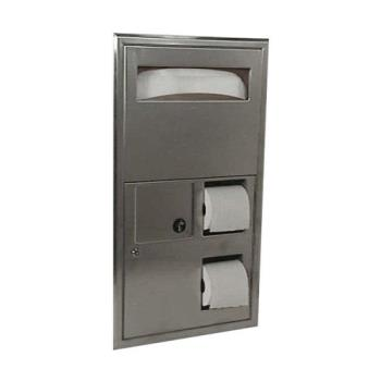 BOBB3574 - Bobrick - B-3574 - ClassicSeries™ Cover, Napkin Disposal, Toilet Paper Dispenser Product Image