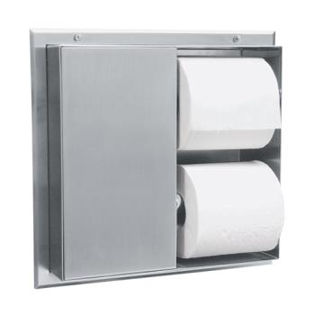 BOBB386 - Bobrick - B-386 - Partition-Mount Multi-Roll Toilet Tissue Dispenser Product Image