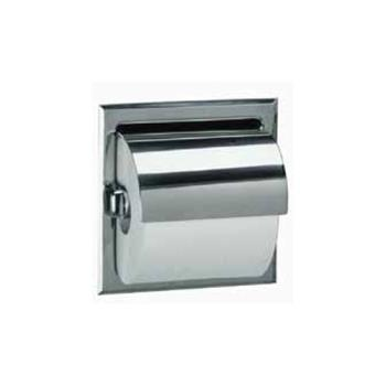 BOBB6697 - Bobrick - B-6697 -  Single Roll Toilet Tissue Dispenser w/Satin Finish & Hood Product Image