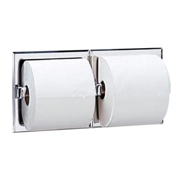 BOBB697 - Bobrick - B-697 - Recessed Double Roll Toilet Tissue Dispenser with Bright Finish Product Image