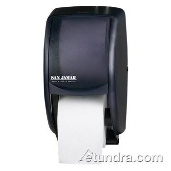 SANR3500TBK - San Jamar - R3500TBK - Duett Classic Black Twin Bath Tissue Dispenser Product Image