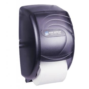 SANR3590TBK - San Jamar - R3590TBK - Duett Oceans Black Twin Bath Tissue Dispenser Product Image