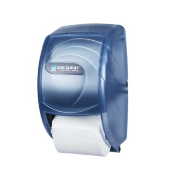 SANR3590TBL - San Jamar - R3590TBL - Duett Oceans Blue Twin Bath Tissue Dispenser Product Image