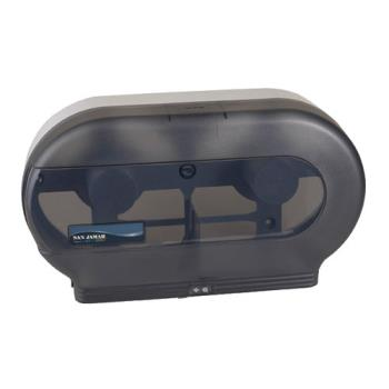 38238 - San Jamar - R4000TBK - Classic Double 9 in Bath Tissue Dispenser Product Image