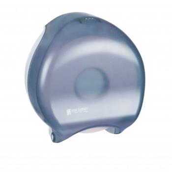 SANR6000TBL - San Jamar - R6000TBL - Reserva 12 in Oceans Blue Single JBT Dispenser Product Image