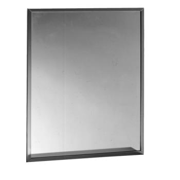 BOBB16582436 - Bobrick - B-1658 2436 - 24 in x 36 in Channel Frame Mirror with Tempered Glass Product Image