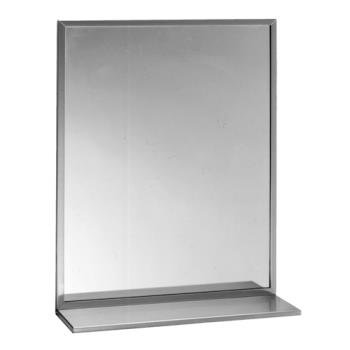 BOBB1661836 - Bobrick - B-166 1836 - 18 in x 36 in Channel Frame Mirror with Shelf Product Image