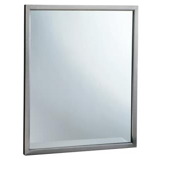BOBB29082436 - Bobrick - B-2908 2436 - 24 in x 36 in Welded Frame Mirror with Tempered Glass Product Image