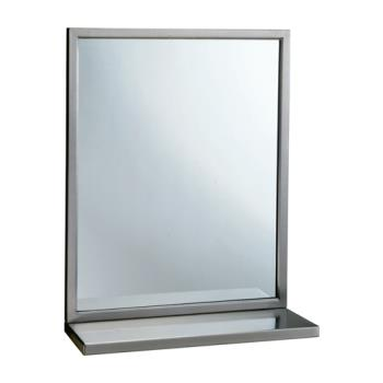 BOBB2921830 - Bobrick - B-292 1830 - Welded-Frame 18 in x 30 in Mirror with Shelf Product Image