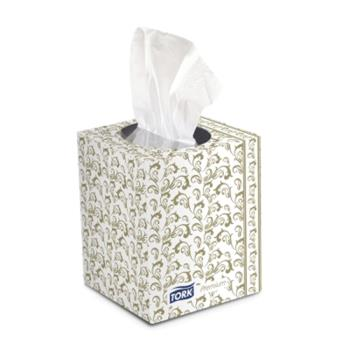 58372 - SCA Tissue of North America - TF6910A - Tork Premium Facial Tissue- Cube Box Product Image