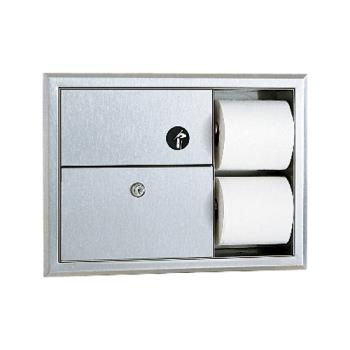 BOBB3094 - Bobrick - B-3094 - ClassicSeries™ Recessed Napkin Disposal & Toilet Tissue Dispenser Product Image