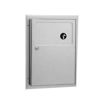BOBB354 - Bobrick - B-354 - ClassicSeries™ Partition-Mounted Sanitary Napkin Disposal Unit Product Image