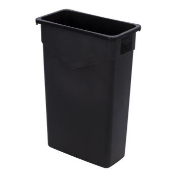 36318 - Carlisle - 34202303 - 23 gal Black TrimLine™ Trash Container Product Image