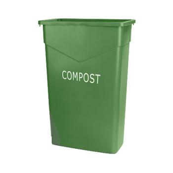 36186 - Carlisle - 342023CMP09 - Trimline™ Green 23 Gallon Rectangular Compost Trash Can Product Image