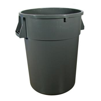 36173 - Continental Commercial - 4410GY - 44 gal Vented Gray Trash Can Product Image