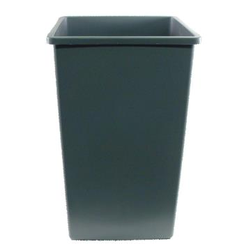 36177 - Continental Mfg. - 25GY - Grey 25 Gallon Square Trash Can Product Image
