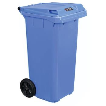 GLOWR241077BL - Global Industrial - WR241077BL - 32 gal Trash Container with Lid Product Image