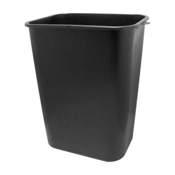 36144 - Impact - 7703-5 - Black 10 Gallon Wastebasket Product Image