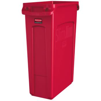 12893 - Rubbermaid - 1956189 - 23 gal Red Slim Jim® Trash Container Product Image