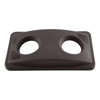36176 - Rubbermaid - FG269288BRN - Slim Jim® Brown Recycling Top Product Image