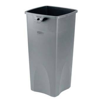 RUB356988GRY - Rubbermaid - 356988 Gray - 23 gal Square Gray Untouchable® Trash Can Product Image