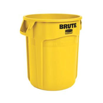 LAGFG263200YEL - Rubbermaid - FG263200YEL - 32 gal Yellow BRUTE® Trash Can Product Image