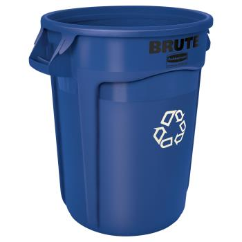 12898 - Rubbermaid - FG263273BLUE - 32 gal Brute® Recycling Can Product Image