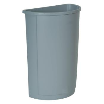 36159 - Rubbermaid - FG352000GRAY - 21 gal Gray Untouchable® Half Round Trash Can Product Image