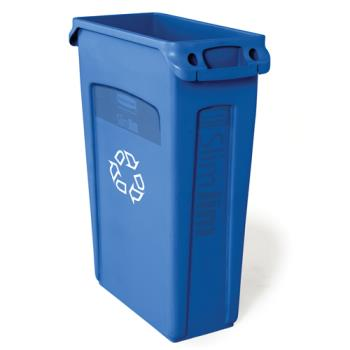 36182 - Rubbermaid - FG354007BLUE - 23 gal Slim Jim® Recycling Bin with Handles Product Image