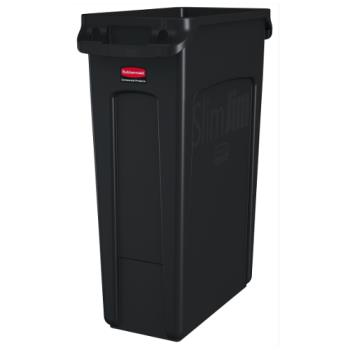 36178 - Rubbermaid - FG354060BLA - 23 gal Black Slim Jim® Trash Container Product Image