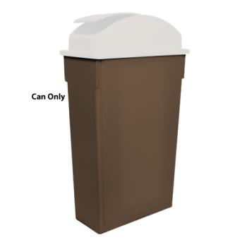 WINPTC23B - Winco - PTC-23B - 23 gal Brown  Slim Trash Can Product Image