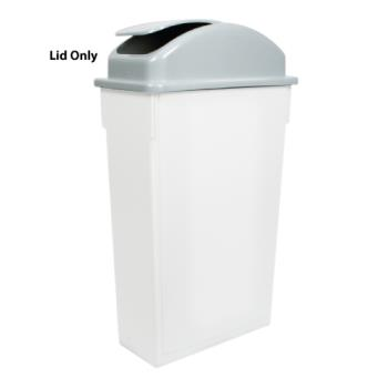 WINPTCL23 - Winco - PTCL-23 - 23 gal Gray Slim Trash Can Lid Product Image