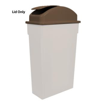 WINPTCL23B - Winco - PTCL-23B - 23 gal Brown Slim Trash Can Lid Product Image