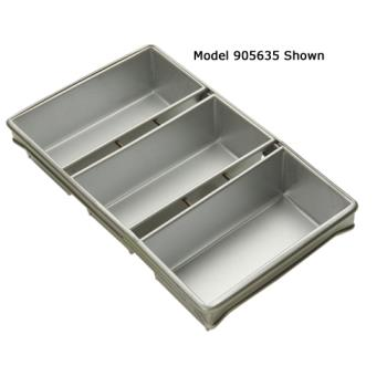 FCP904235 - Focus Foodservice - 904235 - (3) 8 1/2 in x 4 1/2 in Strapped Bread Pan Set Product Image