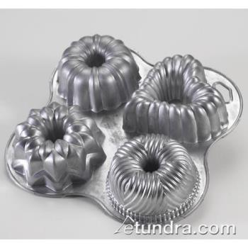 NRW53802 - Nordic Ware - 53802 - (4) Commercial Grade Mini Bundt Pan Product Image