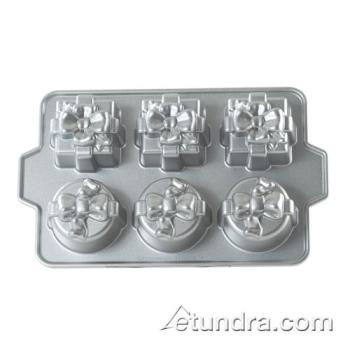 NRW80702 - Nordic Ware - 80702 - Comercial Grade (6) Present Cakelet Pan Product Image